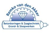 Remko van den Akker – Betonboringen & Zaagtechniek Grond-& Sloopwerken Logo